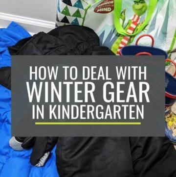 How to Deal with Winter Gear in Kindergarten