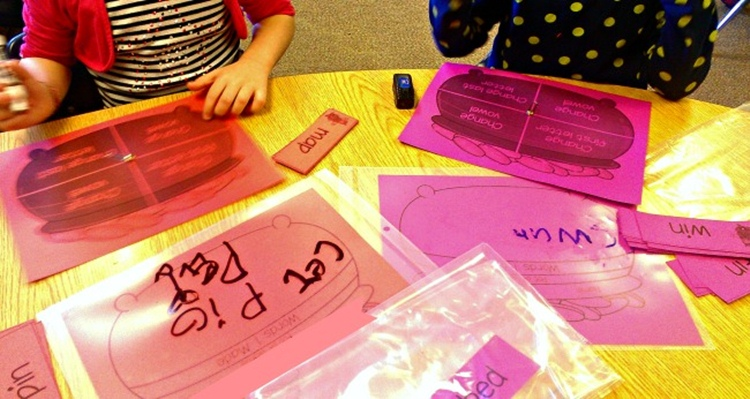 KindergartenWorks :: 4 Easy to Use 'Spin and Change' Phonics Games