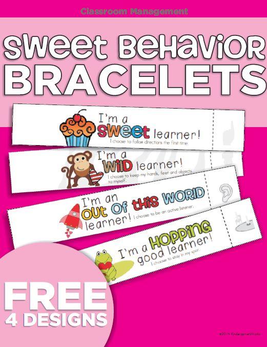 PBIS Sweet Behavior Bracelets {Printable} :: KindergartenWorks