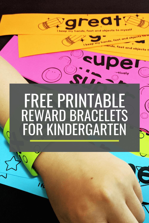 Free Printable Reward Bracelets for Kindergarten
