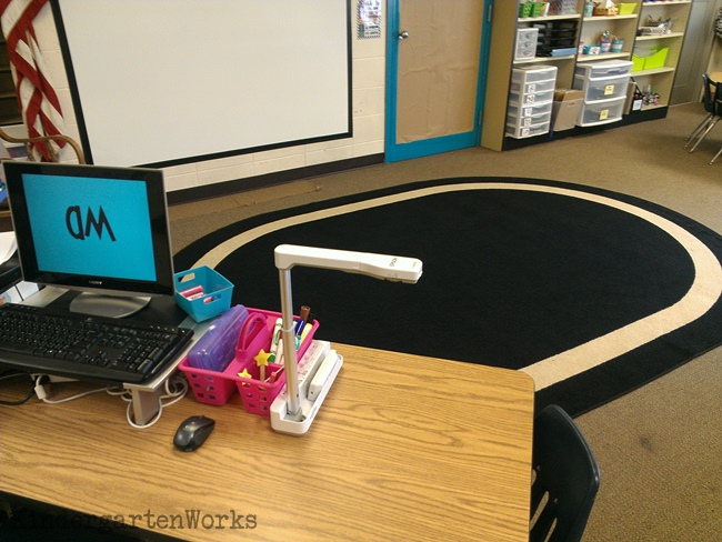Document Camera and Projector Setup & Organization - KindergartenWorks