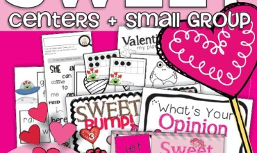 Sweet Valentine Math and Literacy Centers and Small Group Materials - KindergartenWorks