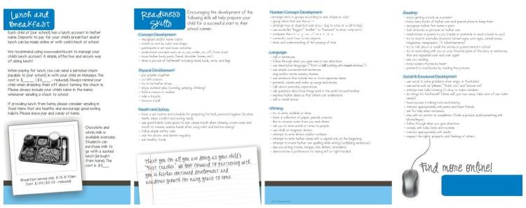 School Wide Parent Kindergarten Registration Brochure Information - KindergartenWorks