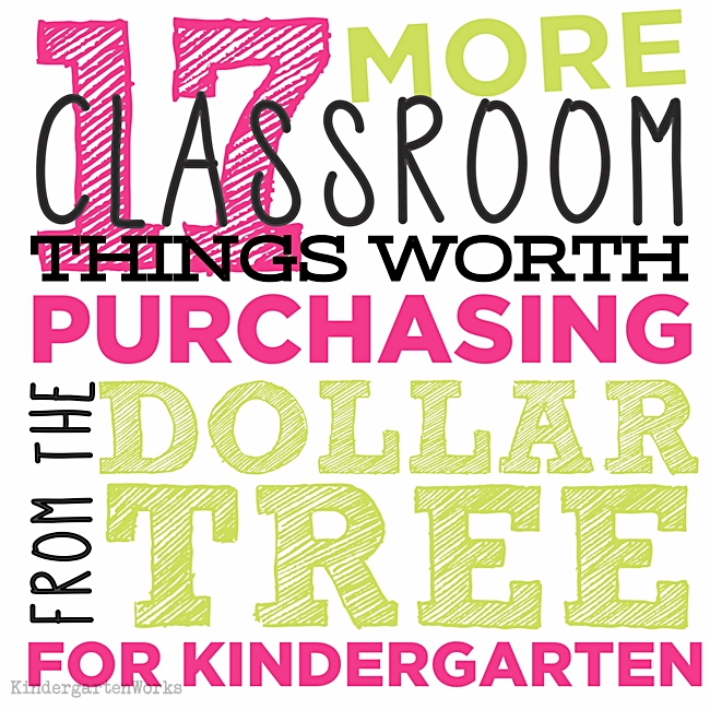 17 {more} classroom things worth purchasing from the dollar tree: KindergartenWorks