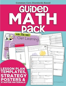 Guided Math Pack (Lesson Plan Templates, Strategy Posters & Starter Materials)