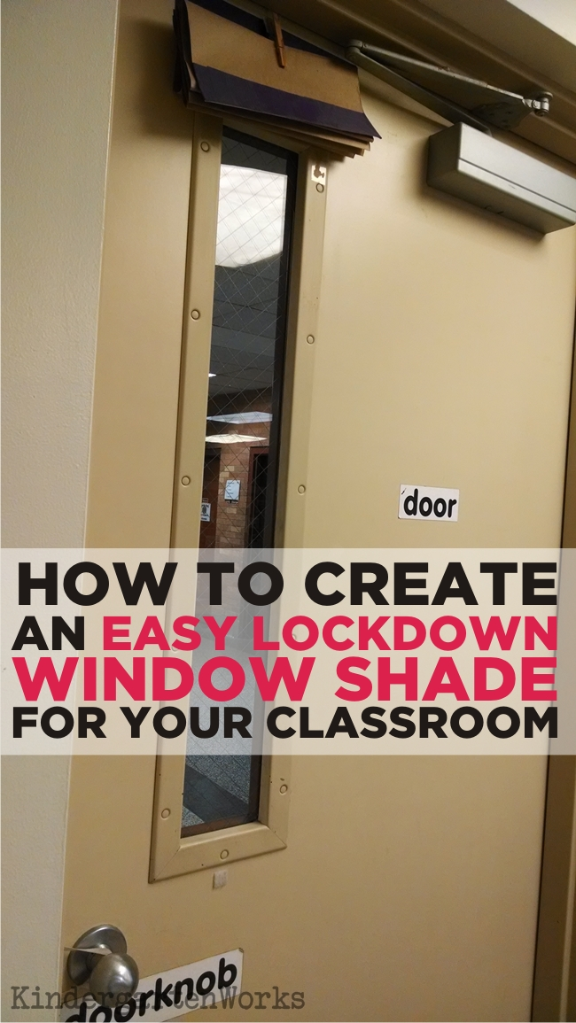 Easy How To Make A Lockdown Shade Kindergartenworks