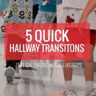 5 Quick Hallway Transitions {Printable}