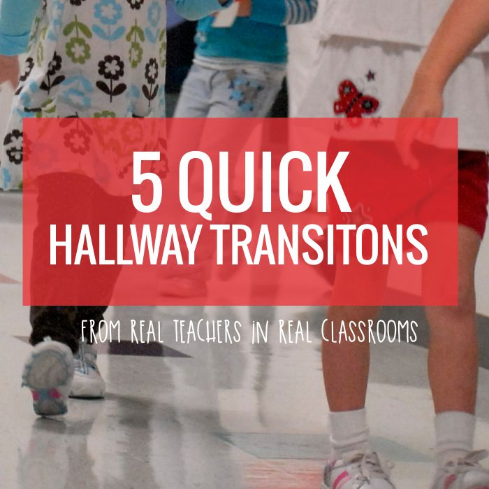 5 Quick Hallway Transitions for Kindergarten