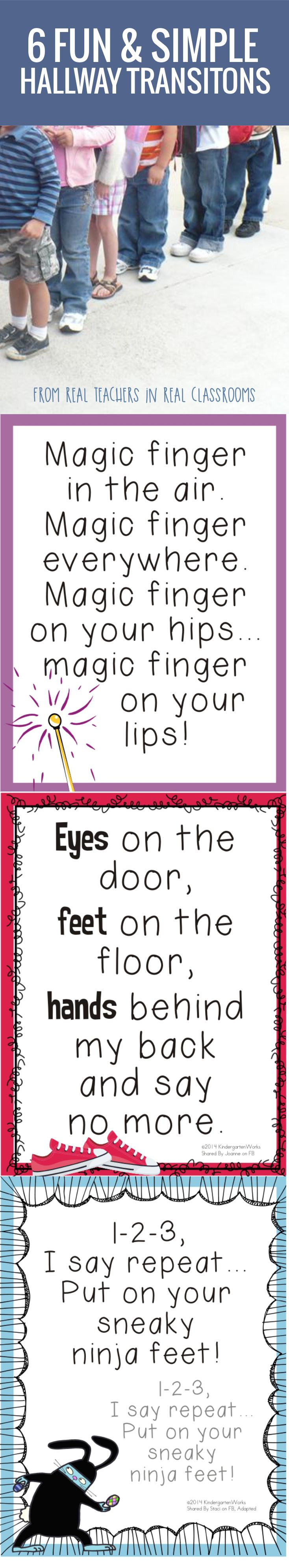 6 Fun and Simple Hallways Transitions for Kindergarten