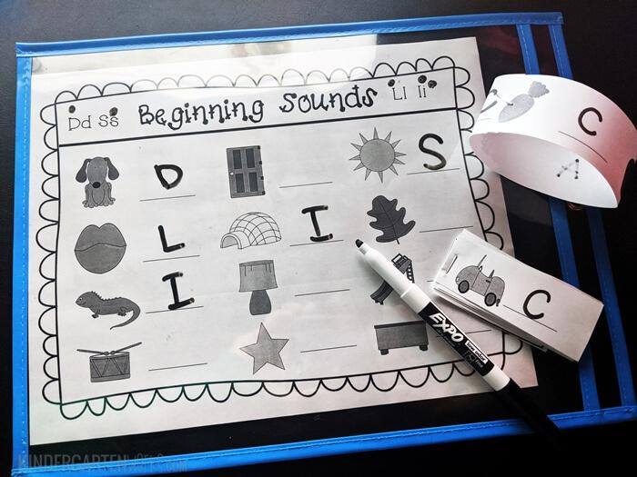 Beginning sounds worksheets for kindergarten free