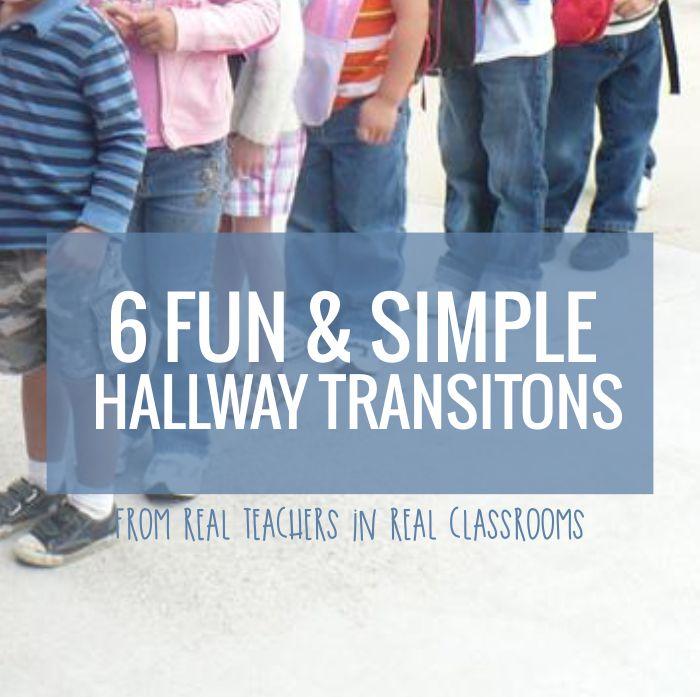 Hallway Transitions - Kindergarten Songs and Chants