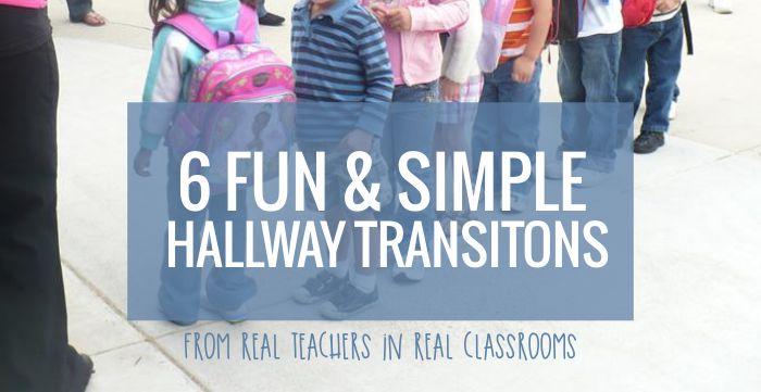 Hallway Transitions for Kindergarten