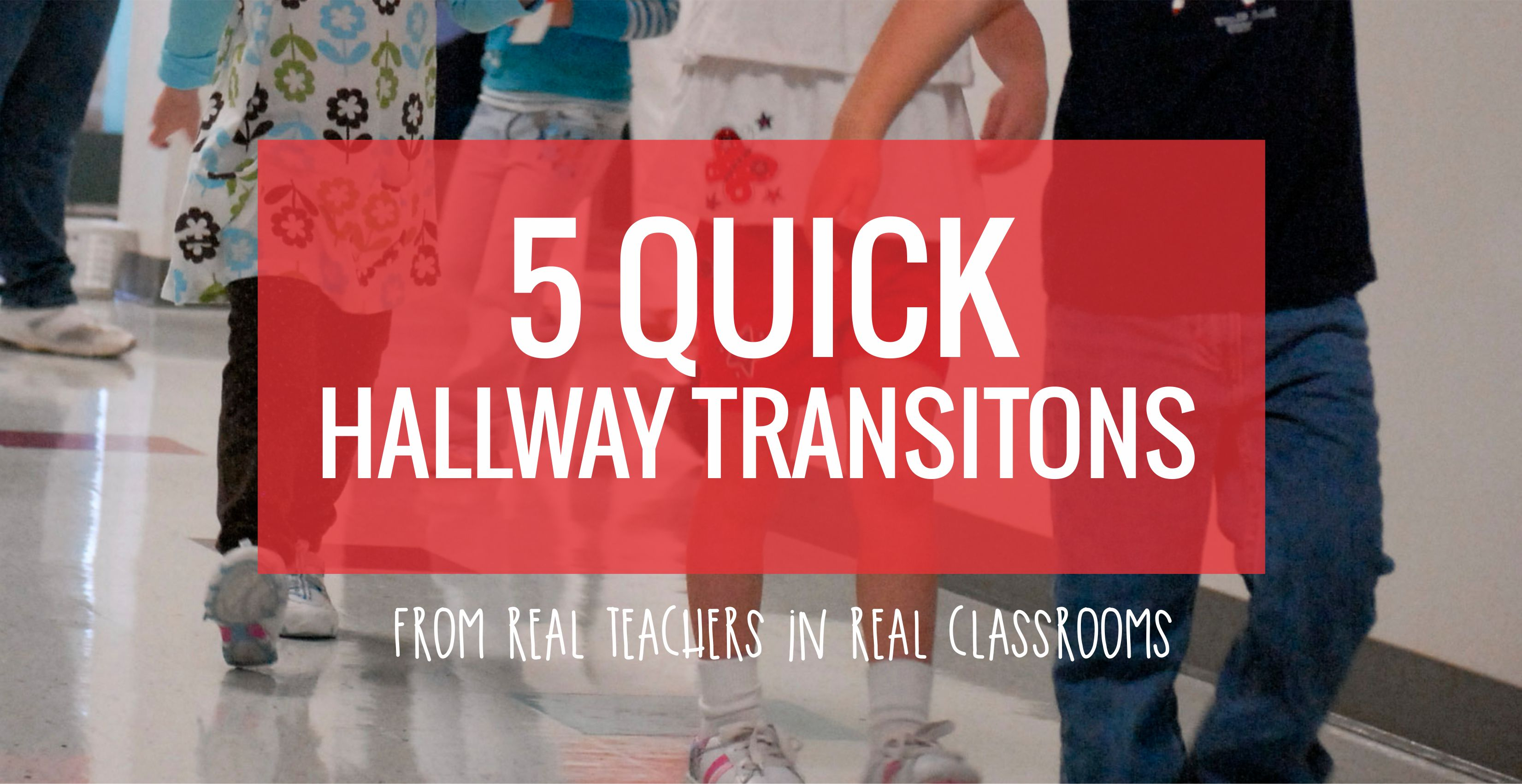 Hallway transitions for kindergarten - Songs and poems