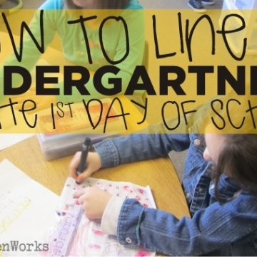 How To Line Up Kindergartners on the First Day of School - KindergartenWorks
