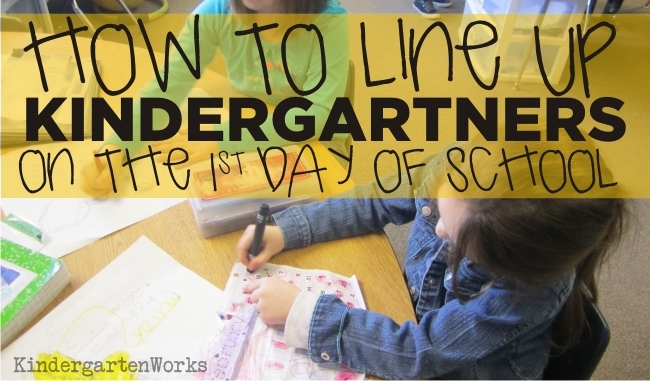 How To Line Up the First Day of School – KindergartenWorks