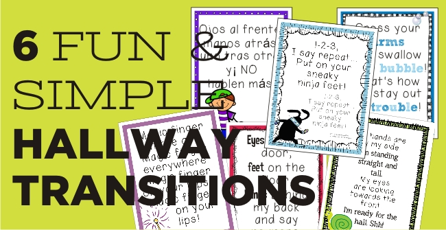 6 Fun and Simple Hallway Transitions - KindergartenWorks