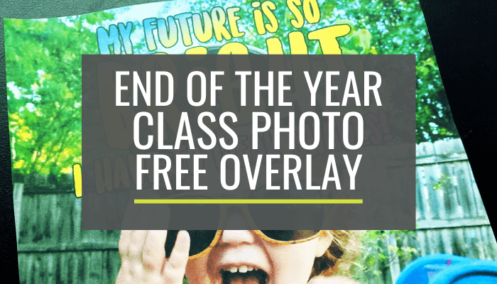 End of the Year Class Photo Idea Sunglasses for a Bright Future