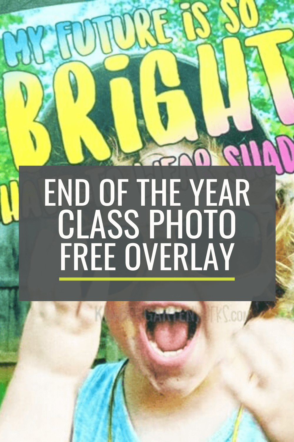 Free Overlay for an End of the Year Class Photo