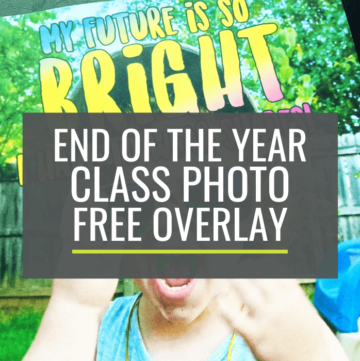 End of the Year Class Photo Idea with Sunglasses for a Bright Future