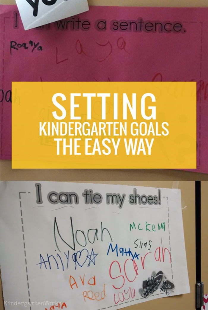 Setting Goals in Kindergarten the Easy Way