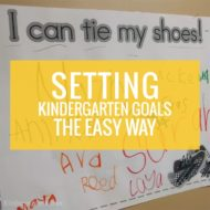 Setting Kindergarten Goals the Easy Way