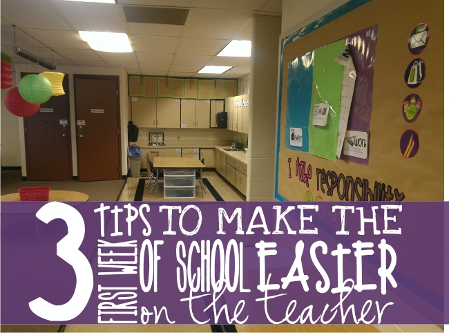 3 Kindergarten Tips to Make the First Week of School Easier {on the teacher}
