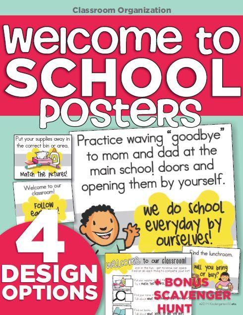 KindergartenWorks :: welcome to school teacher must-have posters