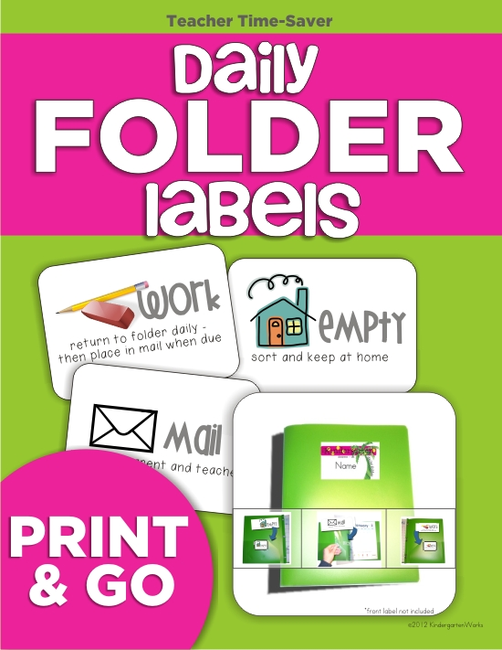 top 7 back to school products from KindergartenWorks - Daily Folder Labels