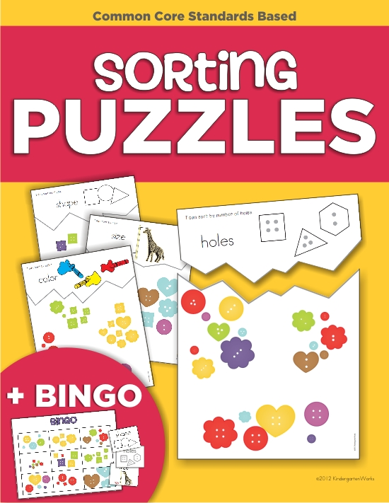 top 7 back to school products from KindergartenWorks - Sorting Puzzles and Bingo