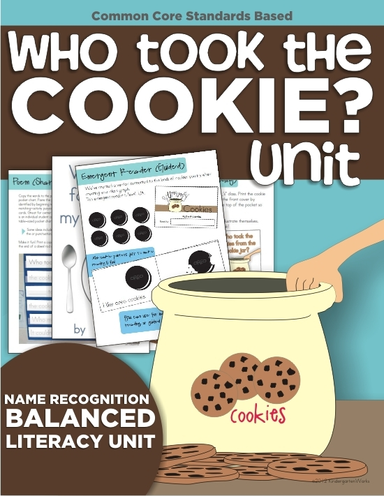 top 7 back to school products from KindergartenWorks - Who Took the Cookie Unit