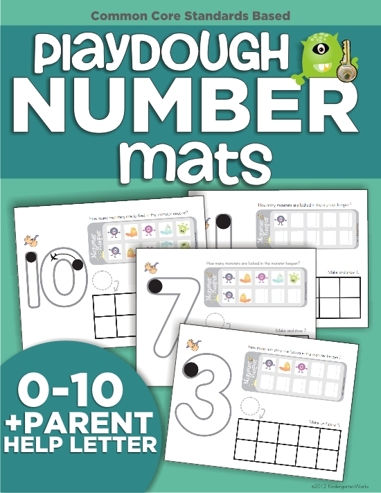 top 7 back to school products from KindergartenWorks - Playdough Number Mats