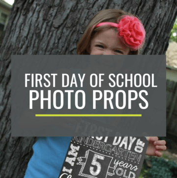 First Day of School Photo Props
