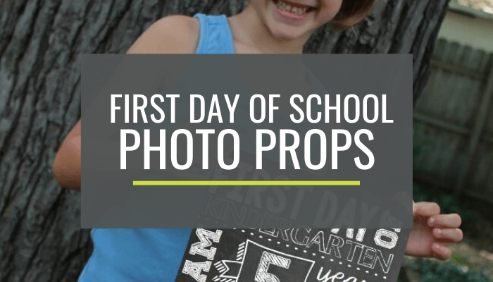 First Day of School Printable Photo Props