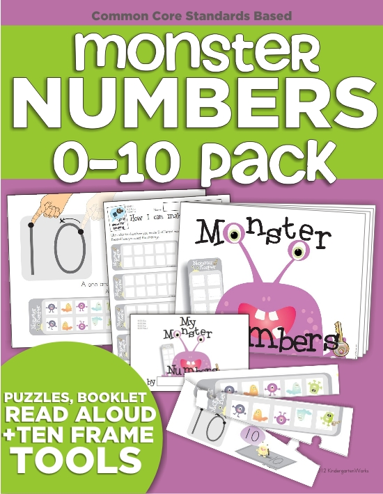 top 7 back to school products from KindergartenWorks - Monster Numbers
