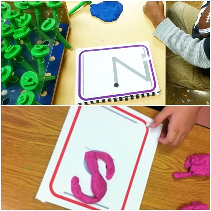 Playdough Handwriting Letter Formation Cards (with starting dots) for Kindergarten