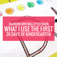 Rainbow Writing Letter Book – What I Use the First 26 Days of Kindergarten