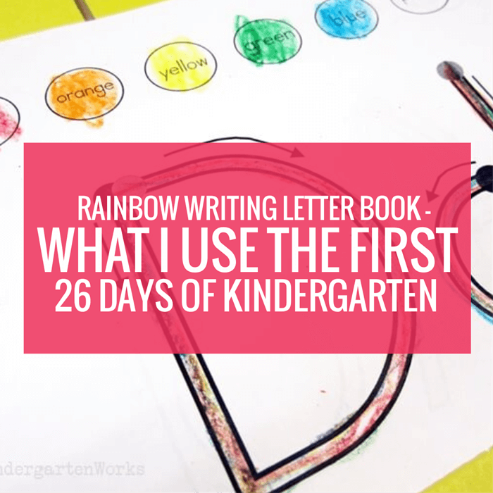 Rainbow Writing Letter Book
