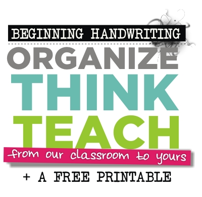 Beginning Handwriting Modeling and Poster | KindergartenWorks