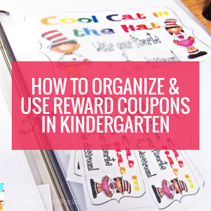 classroom reward coupons in kindergarten