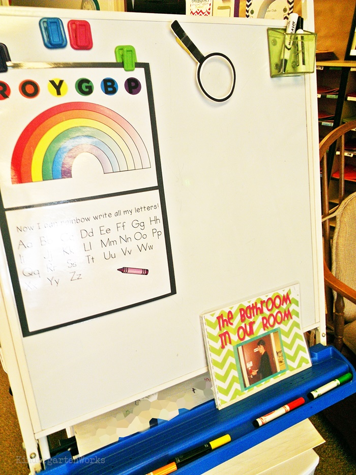 rainbow writing order poster - free download