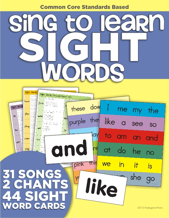 top 7 back to school products from KindergartenWorks - Sing to Learn Sight Words