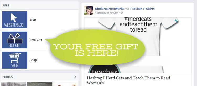 free downloadable gift to facebook fans - KindergartenWorks