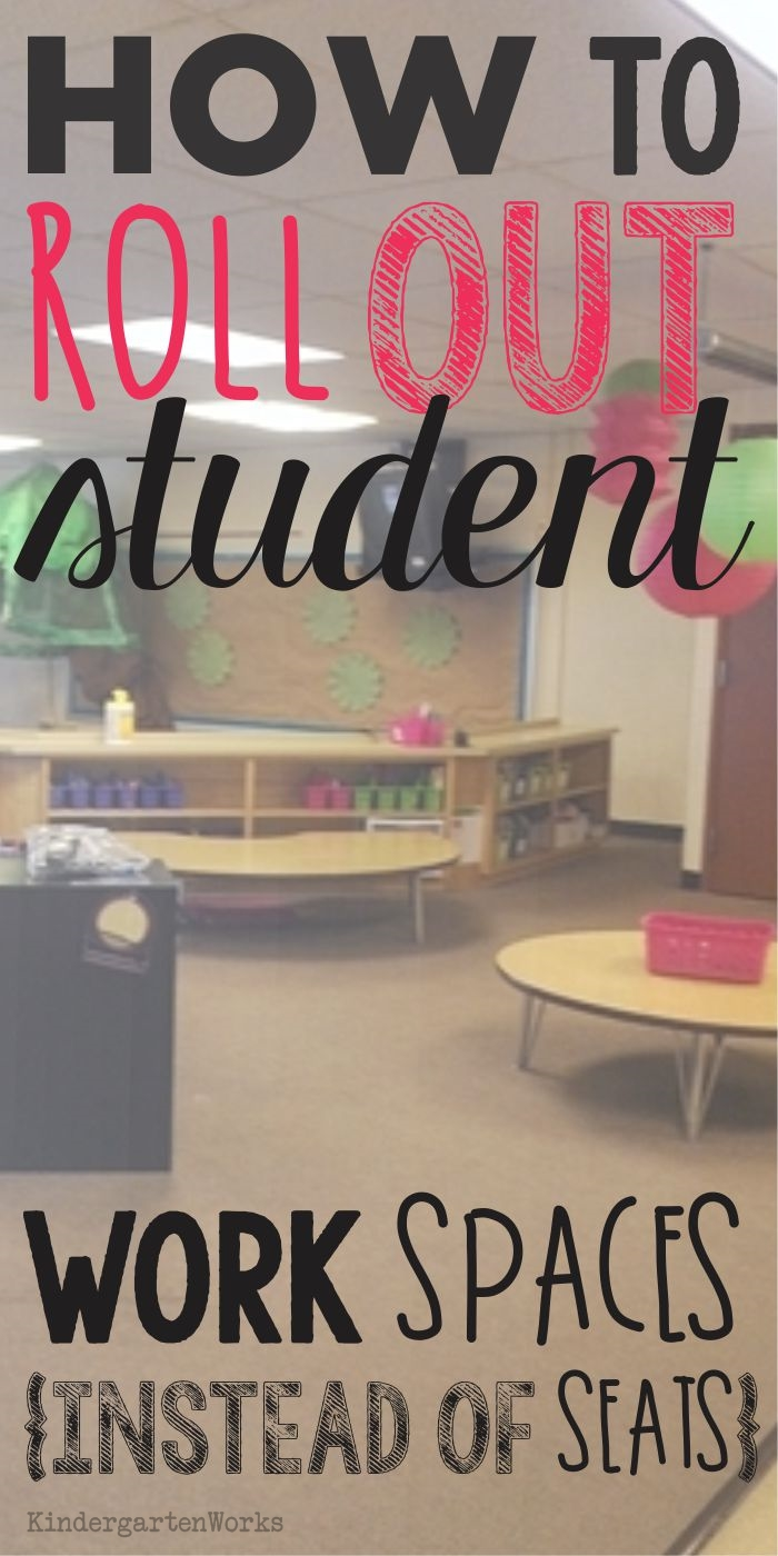 How to Roll Out Student Work Spaces {alternative seating}