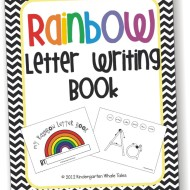 Rainbow Letter Writing Book – What I Use the First 26 Days of Kindergarten
