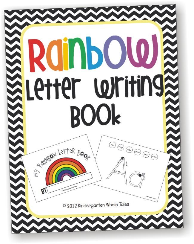 Handwriting Rainbow Books - Teaching Kindergarten How to Form Letters