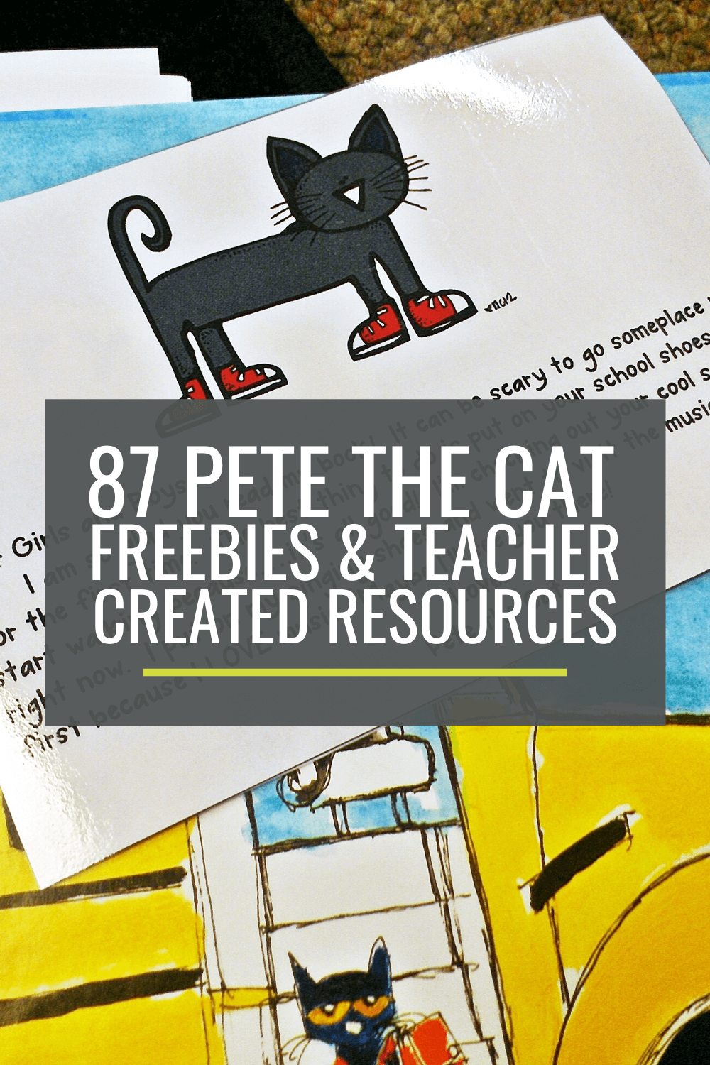 87 Cool Pete the Cat Freebies and Teaching Resources