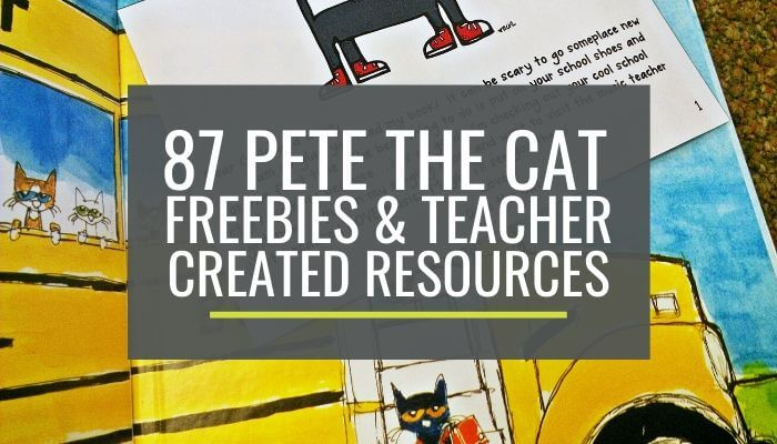 73 Cool Pete the Cat Freebies and Teaching Resources - So easy to find everything here in one place. Love it!