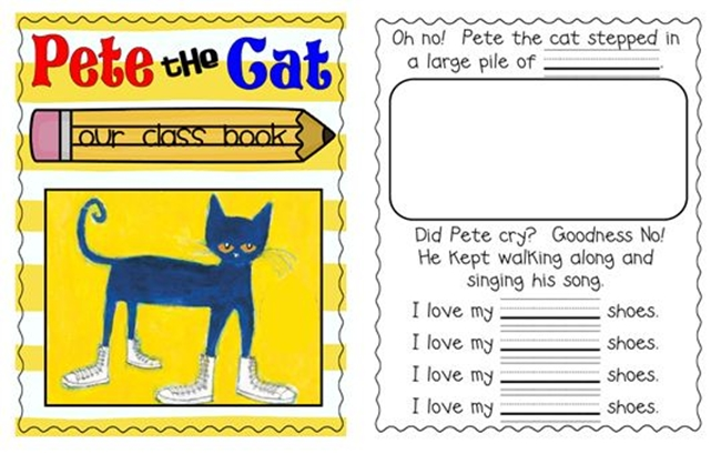 73 Cool Pete the Cat Freebies and Teaching Resources :: KindergartenWorks - Class Book