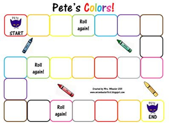 73 Cool Pete the Cat Freebies and Teaching Resources :: KindergartenWorks - Pete's Color Word Games