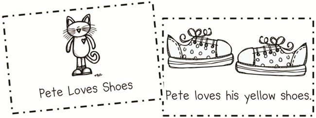 73 Cool Pete the Cat Freebies and Teaching Resources :: KindergartenWorks - Pete Loves Shoes Emergent Reader